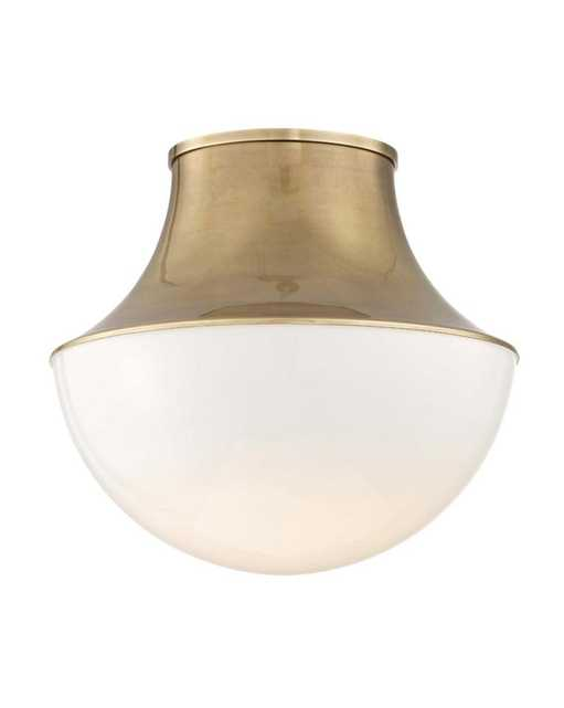 LETTIE FLUSH MOUNT - Aged Brass - McGee & Co.
