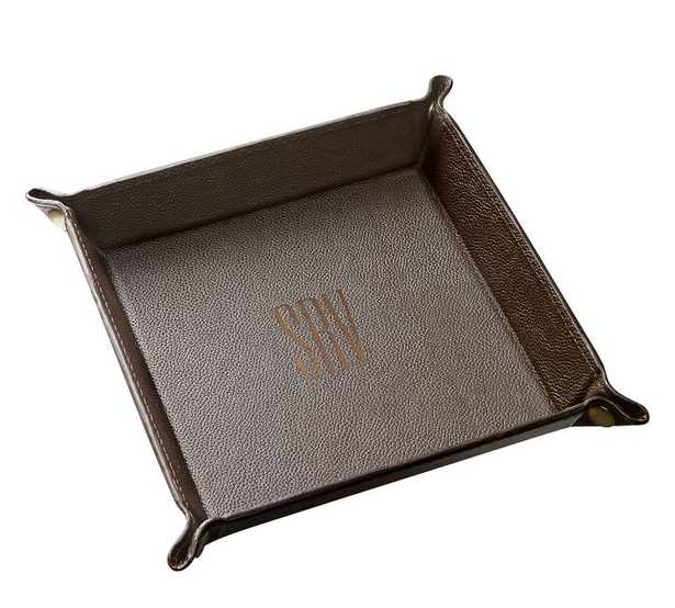 Leather Grant Catchall, Brown - Large - Pottery Barn
