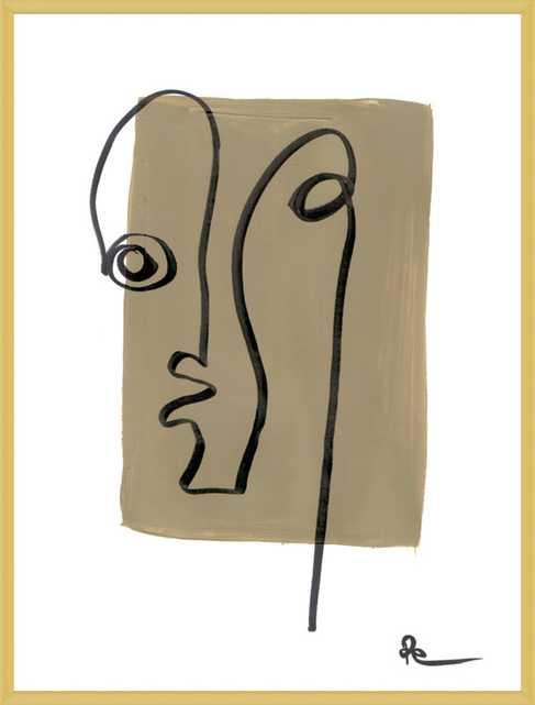 "Im Fine  BY POLLY MANN - ""MANNWEAR"", 11'' x 14'',  Frosted Gold Metal Frame - Artfully Walls"