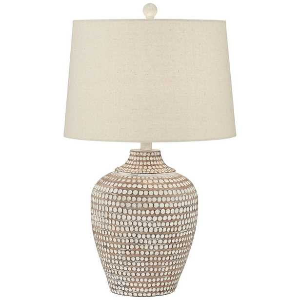 """Alese Neutral Earth Polka Dot Jug Ceramic 23 1/2"""" h Table Lamp - Style # 18Y64 - Lamps Plus"""