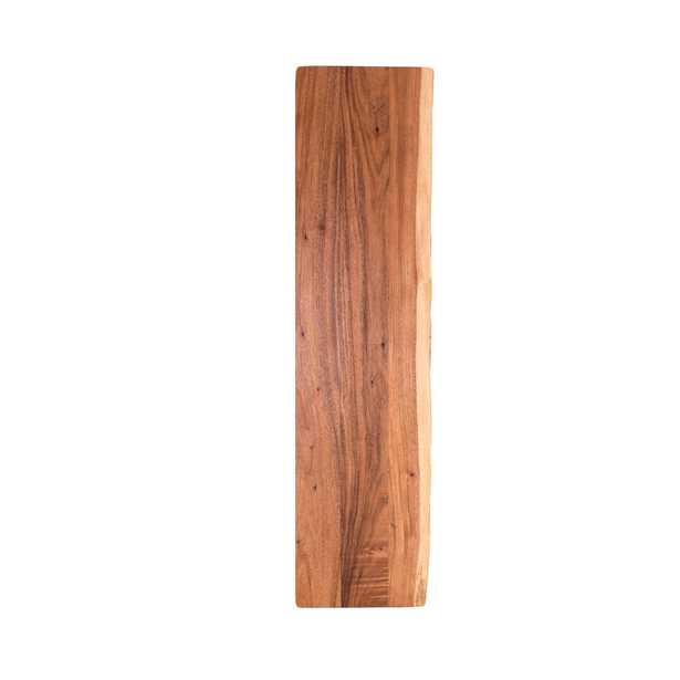 8 ft. L x 2 ft. 1 in. D x 1.5 in. T Butcher Block Countertop in Oiled Acacia with Live Edge - Home Depot