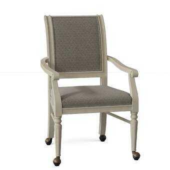Delano Upholstered  King Louis back Arm chair - Wayfair