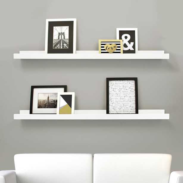 Edge 44 in. W x 4 in. D White Picture Frame Ledge (Set of 2) - Home Depot