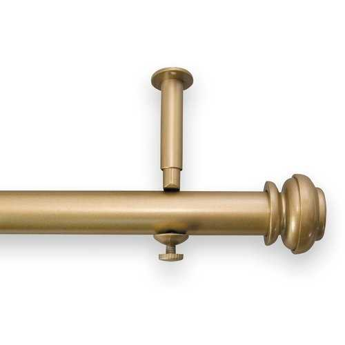 "Queenstown Single Curtain Rod and Hardware Set- gold 90""-144"" - Wayfair"