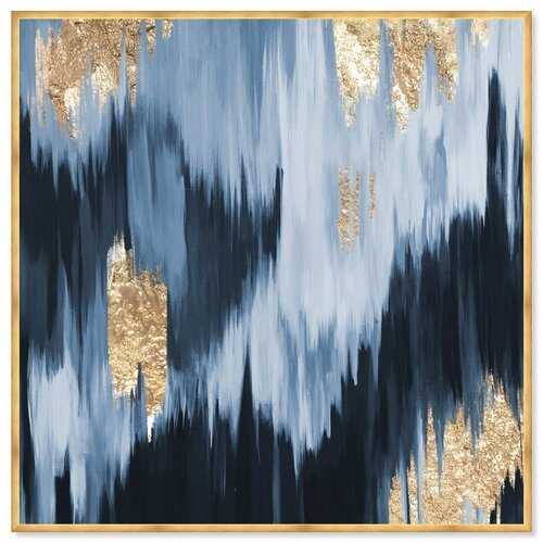 Abstract Gold Blue Fall - Picture Frame Graphic Art Print on Paper - Wayfair