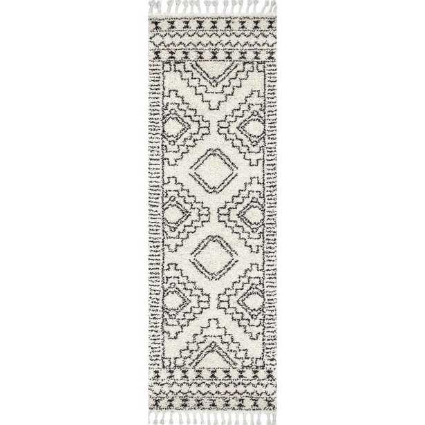 Vasiliki Moroccan Tribal Tassel Off White 2 ft. 8 x 8 ft. Runner - Home Depot