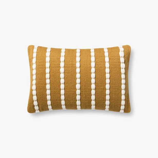 P1152 MH GOLD / IVORY PILLOW - DOWN INSERT - Loma Threads