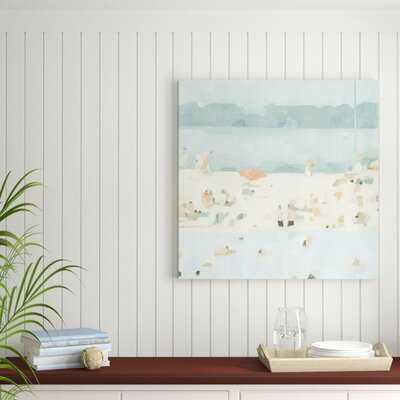 'Sea Glass Sandbar II' Painting on Canvas - Wayfair