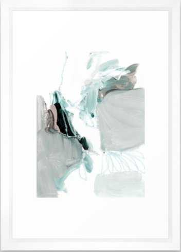 abstract painting XX - 15x21, vector white frame - Society6