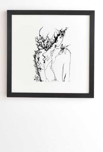 CHRYSALIDE- black frame 20x20 - Wander Print Co.