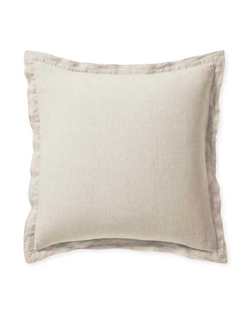 Cavallo Linen Euro Sham - Heathered Flax - Insert sold separately - Serena and Lily