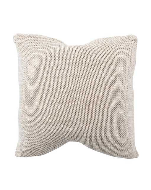 LIBBEY KNITTED COTTON PILLOW COVER - McGee & Co.