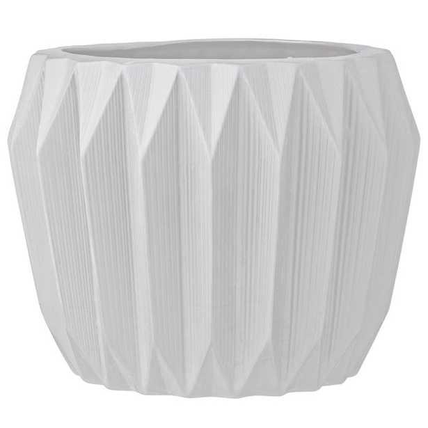 Trenton Fluted Ceramic Pot Planter - AllModern