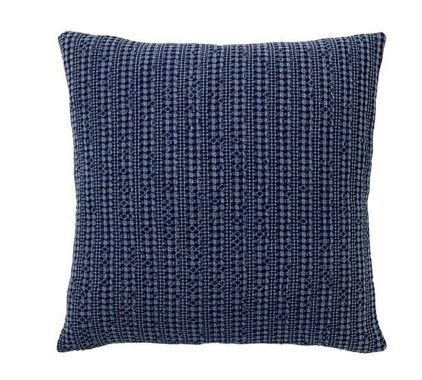 """Honeycomb Pillow Cover, 18"""", Sailor Blue - Pottery Barn"""