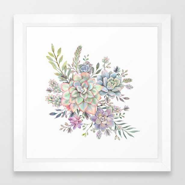 succulent watercolor 8 Framed Art Print - Society6