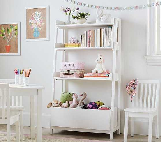 Angled Bookcase, Simply White - Pottery Barn Kids