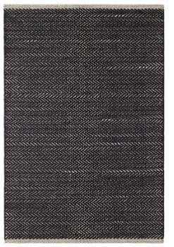 HERRINGBONE BLACK WOVEN COTTON RUG, 8x10 - Dash and Albert