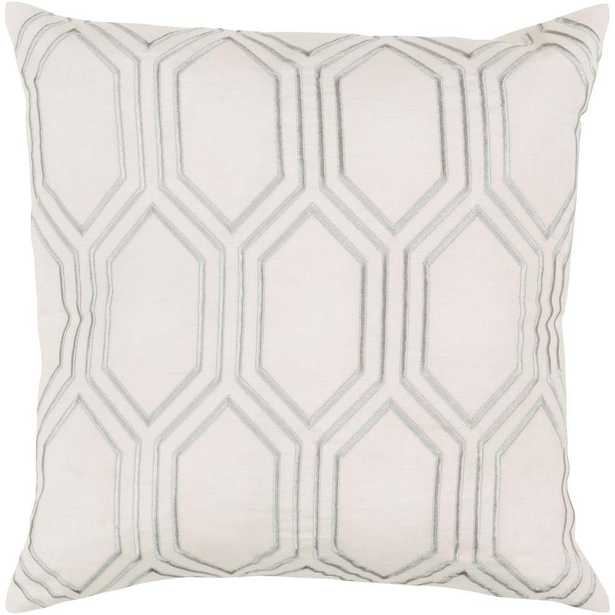 Avalon Ivory Geometric Polyester 18 in. x 18 in. Throw Pillow - Home Depot