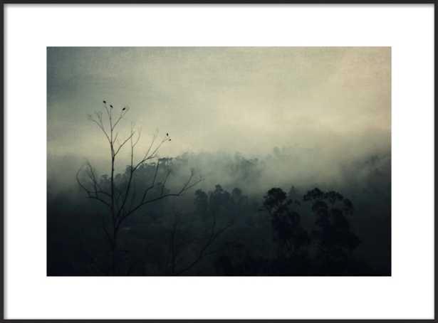 bird song - 28x20 - matte black metal frame - with matte - Artfully Walls