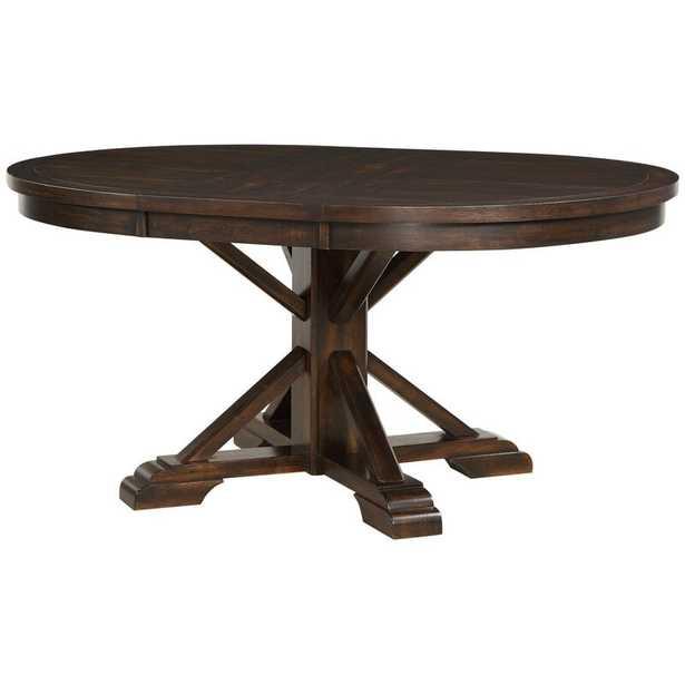 Suzana Pedestal Leaf Dining Table - Wayfair