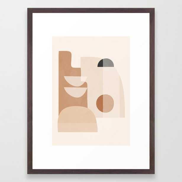 Abstract Minimal Shapes 5 Framed Art Print - Society6