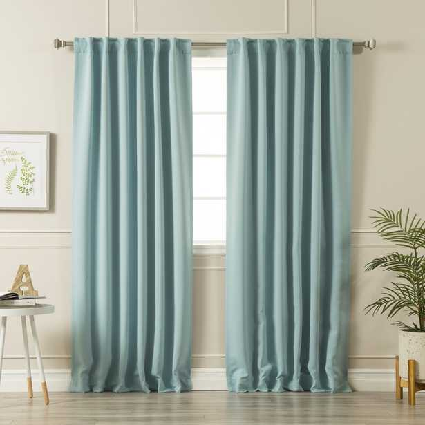 Sweetwater Solid Blackout Thermal Rod Pocket Double Curtains (Set of 2) - Wayfair