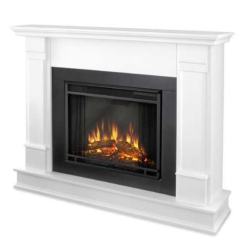 Silverton Electric Fireplace in White - Wayfair