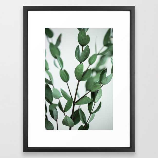 """Leaves 6 Framed Art Print - Vector Black Frame - 20""""x26"""" - Society6"""