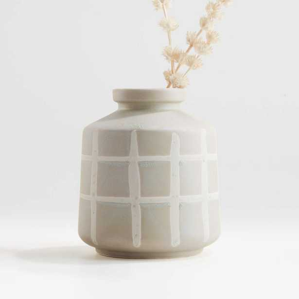 Cappilla Sage and White Grid Vase - Crate and Barrel