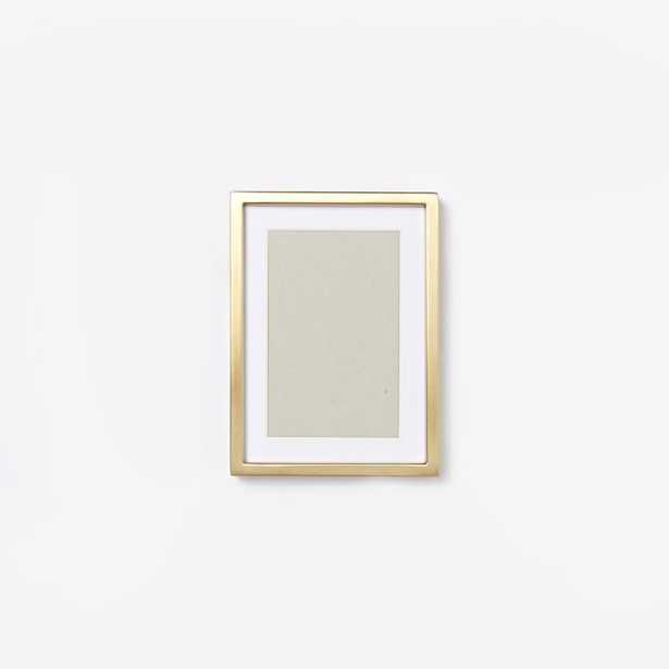 """Metal Tabletop Frame -Brass - 4"""" x 6"""" (5"""" x 7"""" without mat) - West Elm"""