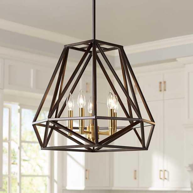 "Hawking 5-Light 20"" Wide Bronze Pendant Chandelier - Style # 7Y952 - Lamps Plus"