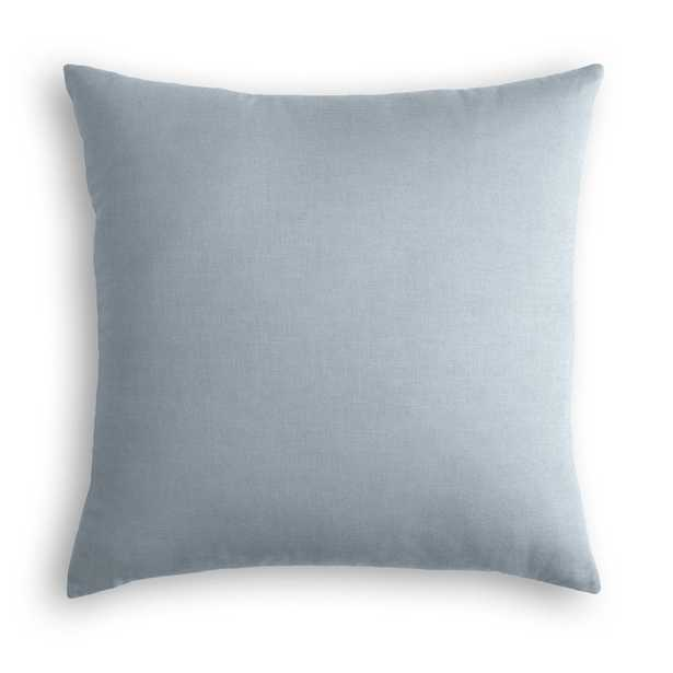 "Classic Linen Pillow, Dusk, 20"" x 20"", down insert - Havenly Essentials"