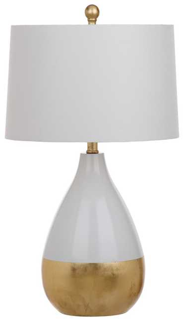 KINGSHIP 24-INCH H WHITE AND GOLD TABLE LAMP Set of 2 - Arlo Home