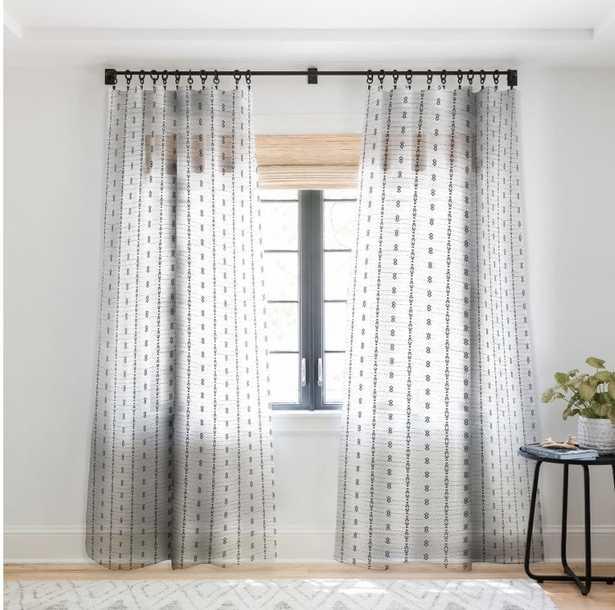 "FRENCH LINEN TRIBAL STRIPE Sheer 84"" Window Curtain - Wander Print Co."