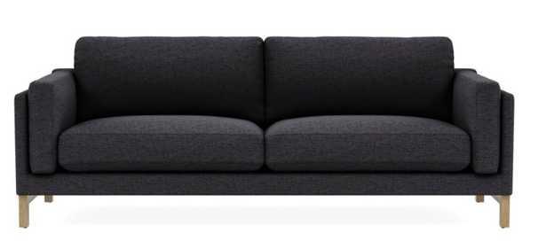 """GABY 2-Seat Sofa / 96"""" / Coal / White Wash Oak / - Interior Define"""