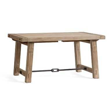 "Benchwright Extending Dining Table, Small 60"" - 84"" L, Seadrift - Pottery Barn"