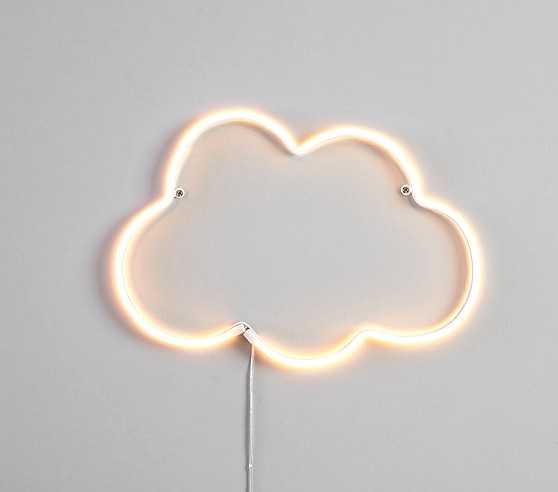 Neon LED Cloud Wall Decor - Pottery Barn Kids