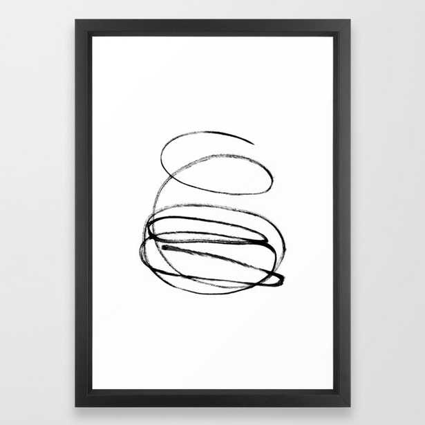 My mind is a mess. Framed Art Print - Society6