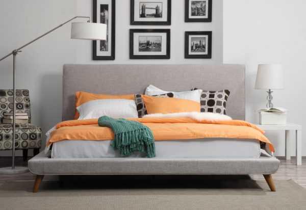 Nilson Morgan Linen Bed in King - Maren Home