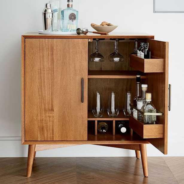 Mid-Century Bar Cabinet - Small, Acorn - West Elm