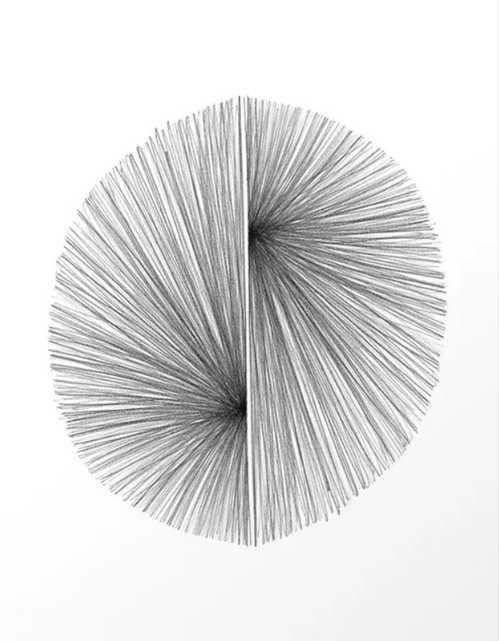 "Mid Century Modern Geometric Abstract Radiating Lines Art Print; Small 13"" x 17"" - Society6"