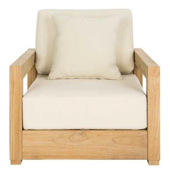 Montford Armchair - Teak/Beige - Arlo Home - Arlo Home