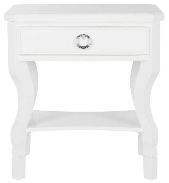 Alaia One Drawer Nightstand - White - Arlo Home - Arlo Home