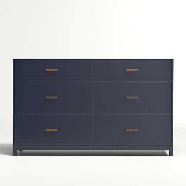 Kids Parke Navy Blue 6-Drawer Dresser - Crate and Barrel