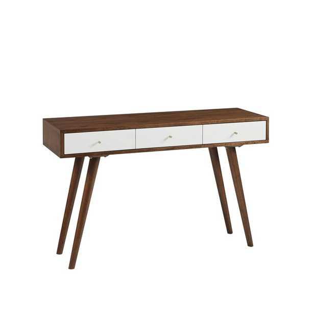 White/Pecan Ayden Desk - Wayfair