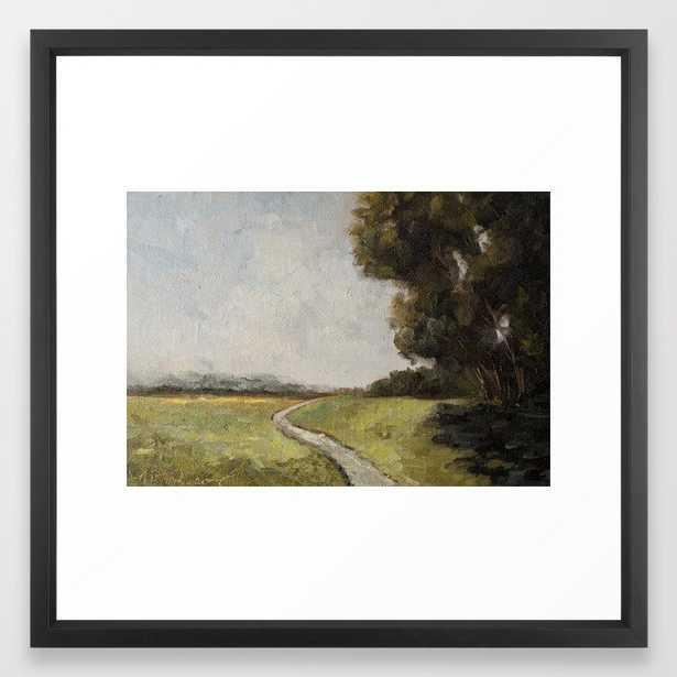 "Winding path Framed Art Print - 22"" x 22"" Vector Black Frame - Society6"