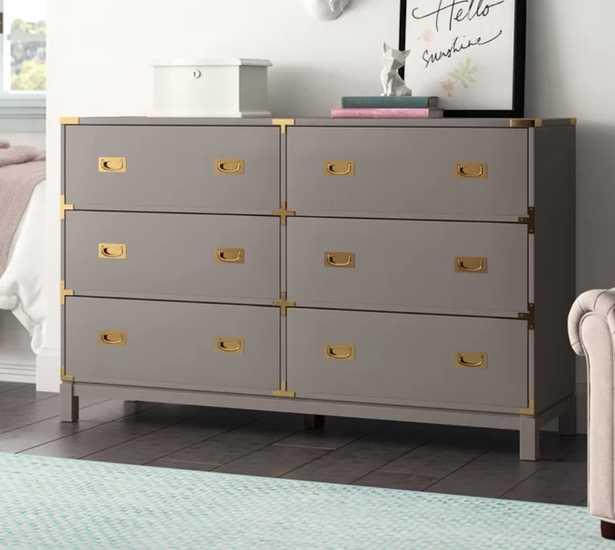 Arnulfo 6 Drawer Double Dresser - Gray - Wayfair