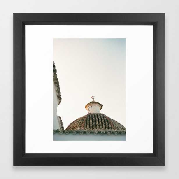 "Travel photography ""Ibiza Sunset rooftop""   Modern wall art pastel poster spain Framed Art Print - Society6"