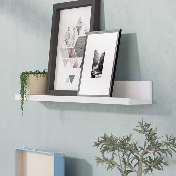 "3.5"" H x 72"" W 4.5"" D White Picture Ledge Wall Shelf - Wayfair"