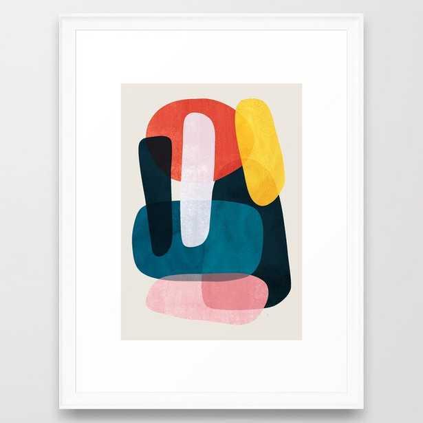 """Mischka Framed Art Print- 20""""x26""""- scoop white frame - Society6"""